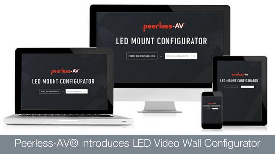 A Peerless-AV bemutatja új LED-Videófal-Konfigurátorát
